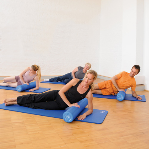 Pilates Foam Roller And Ball Rolling